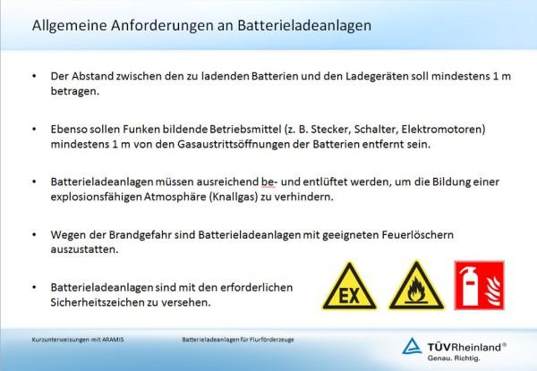 Batterieladeanlagen für Flurförderzeuge